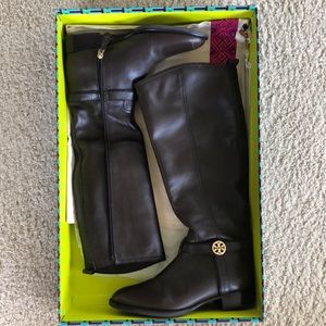 Tory Burch size 8 brown leather riding boots